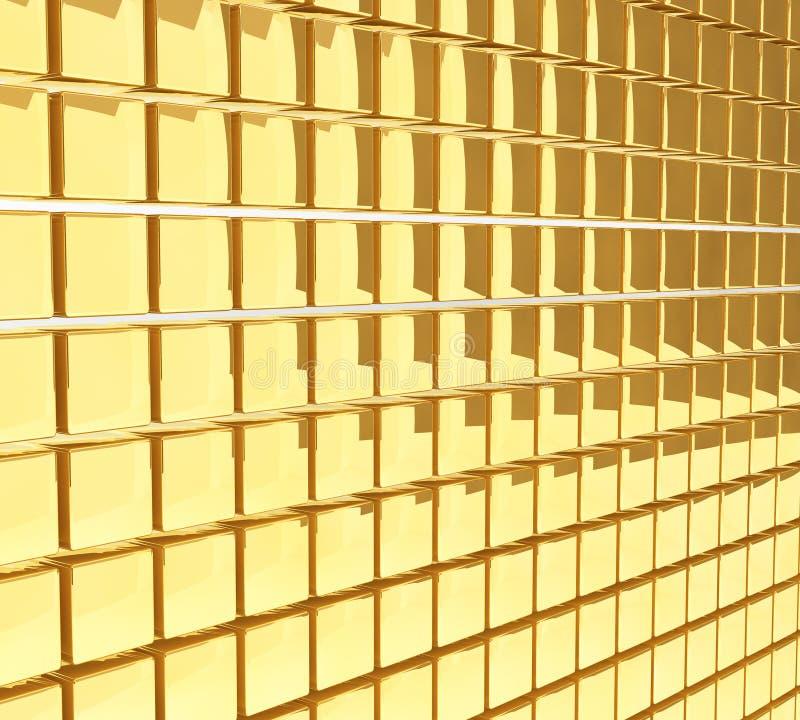 Goldene Würfelwand stock abbildung