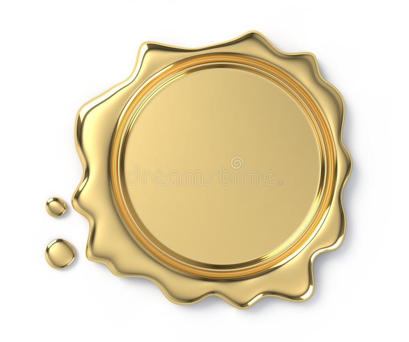 Goldene Wachsdichtung lizenzfreie abbildung