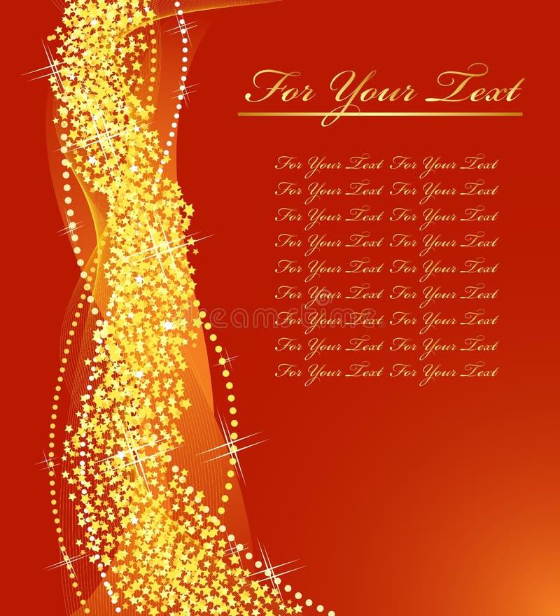 Goldene Weihnachtsauslegung. vektor abbildung