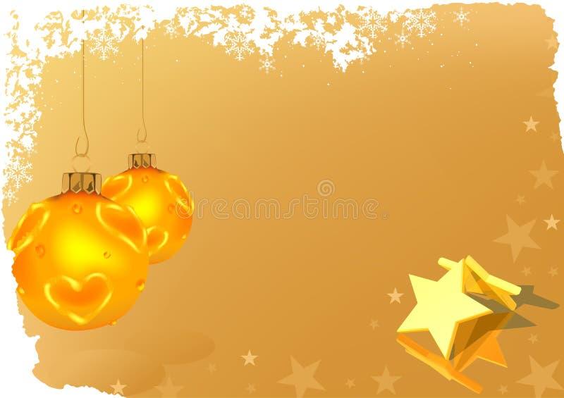 Goldene Weihnachtsgruß-Karte lizenzfreie abbildung