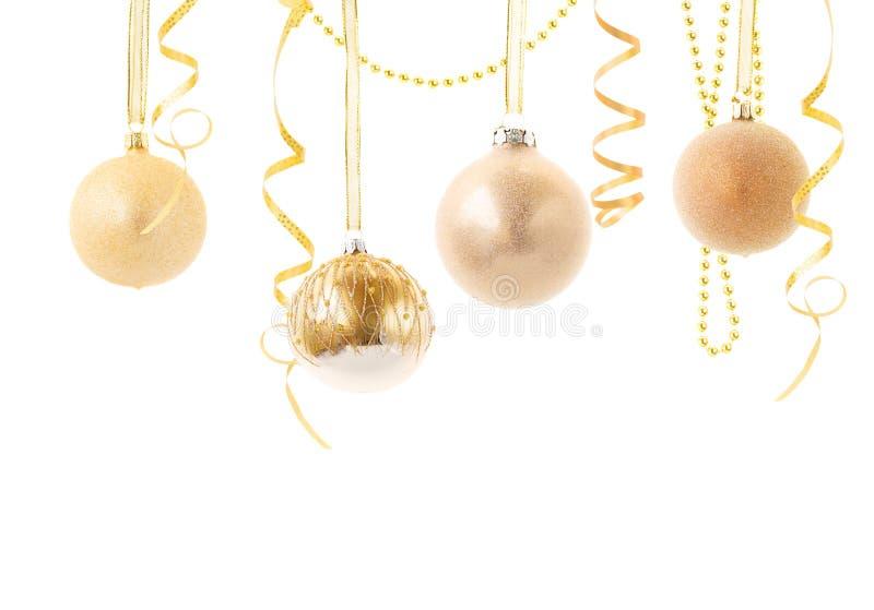Goldene Weihnachtskugeln.Rote Und Goldene Weihnachtskugeln Stockbild Bild Von Dezember