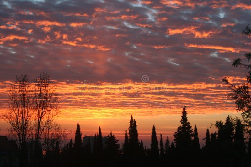 Goldene Wolken stockfoto