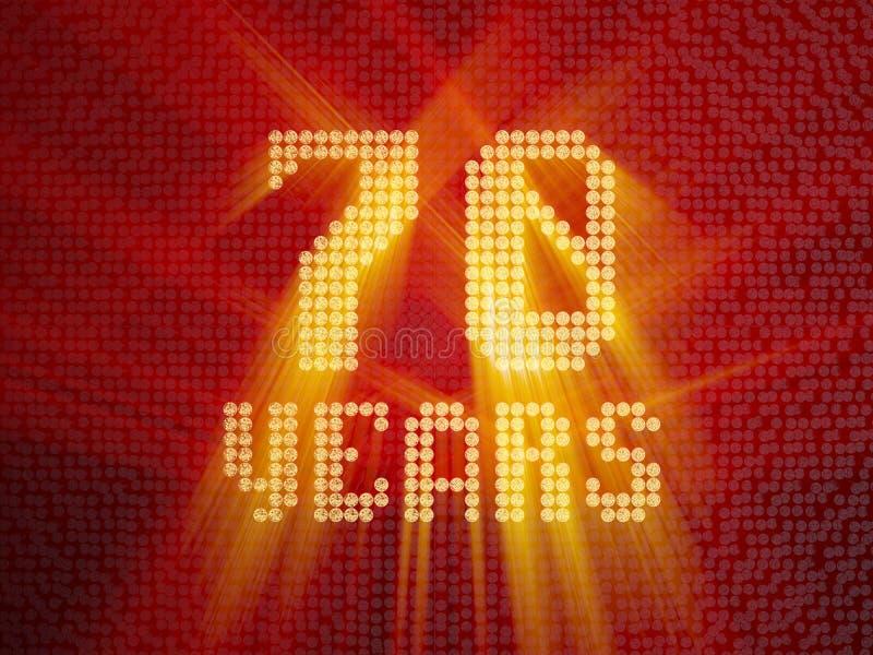 Goldene Zahl siebzig Jahre 3d übertragen stock abbildung