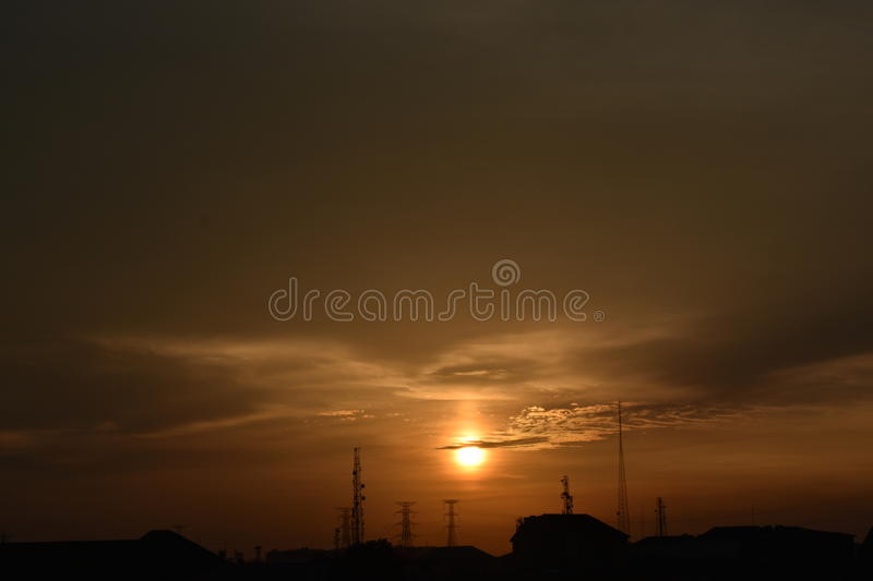 Goldener Abend stockfoto