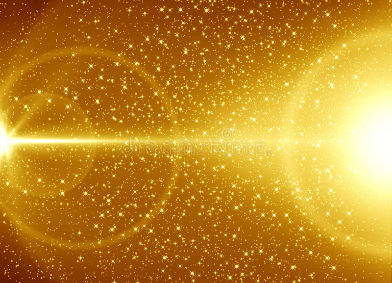 Goldener abstrakter Hintergrund lizenzfreie abbildung