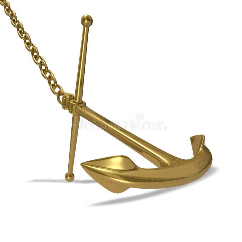 Goldener Anker vektor abbildung