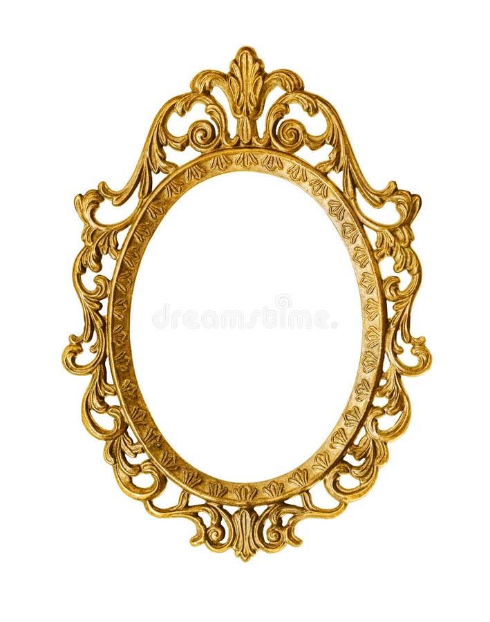 Goldener antiker Rahmen stockfoto. Bild von galerie, oval - 36239536
