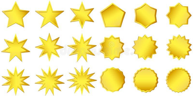 Goldener Aufkleber der erstklassigen Qualität über weißem Hintergrund Goldzeichen Begrenzte Ausgabe, für Verkaufsaufkleber zeiche stock abbildung