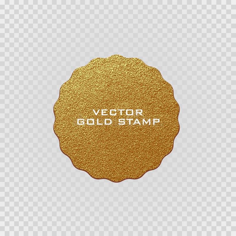 Goldener Aufkleber der erstklassigen Qualität Goldzeichen Glänzender, Luxusausweis Beste Wahl, Preis lizenzfreie abbildung
