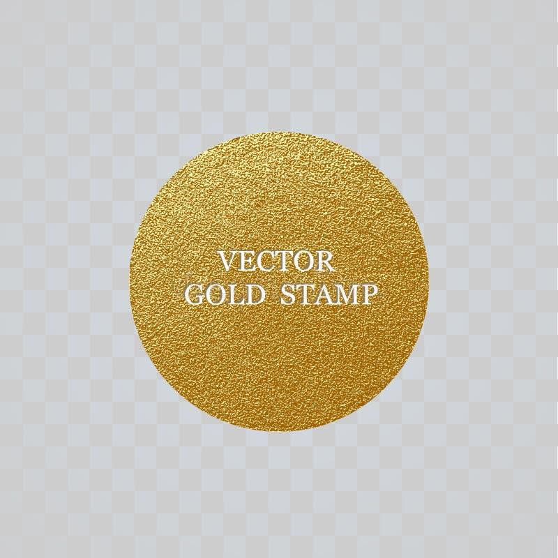 Goldener Aufkleber der erstklassigen Qualität Goldzeichen-glänzender Luxusausweis Beste Wahl, Preis Logo für Verkauf stock abbildung