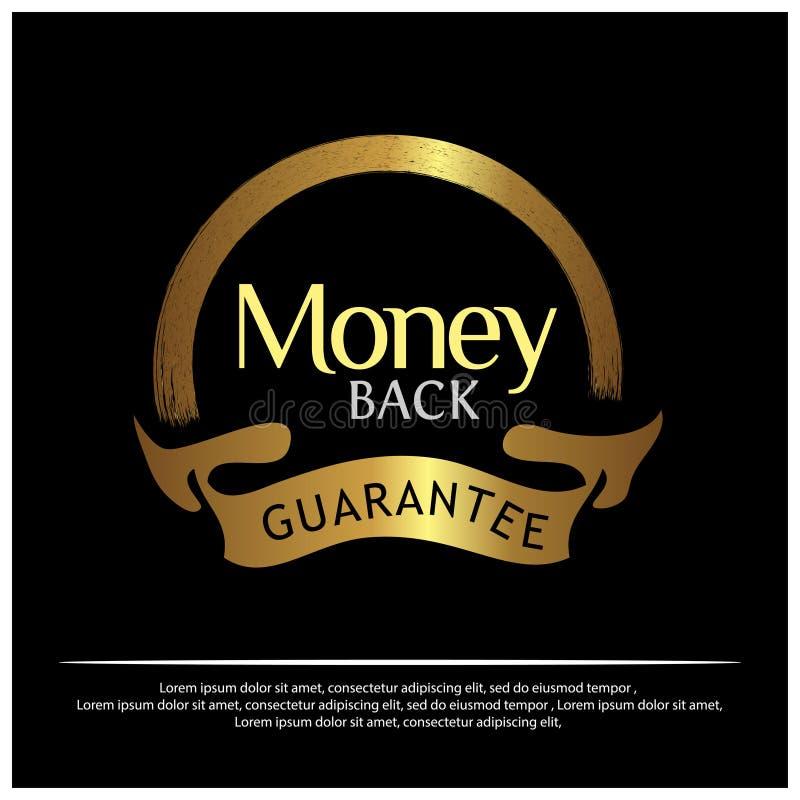 Goldener Aufkleber der Geld-Rückseite auf weißem Hintergrund - Vektor lizenzfreie abbildung