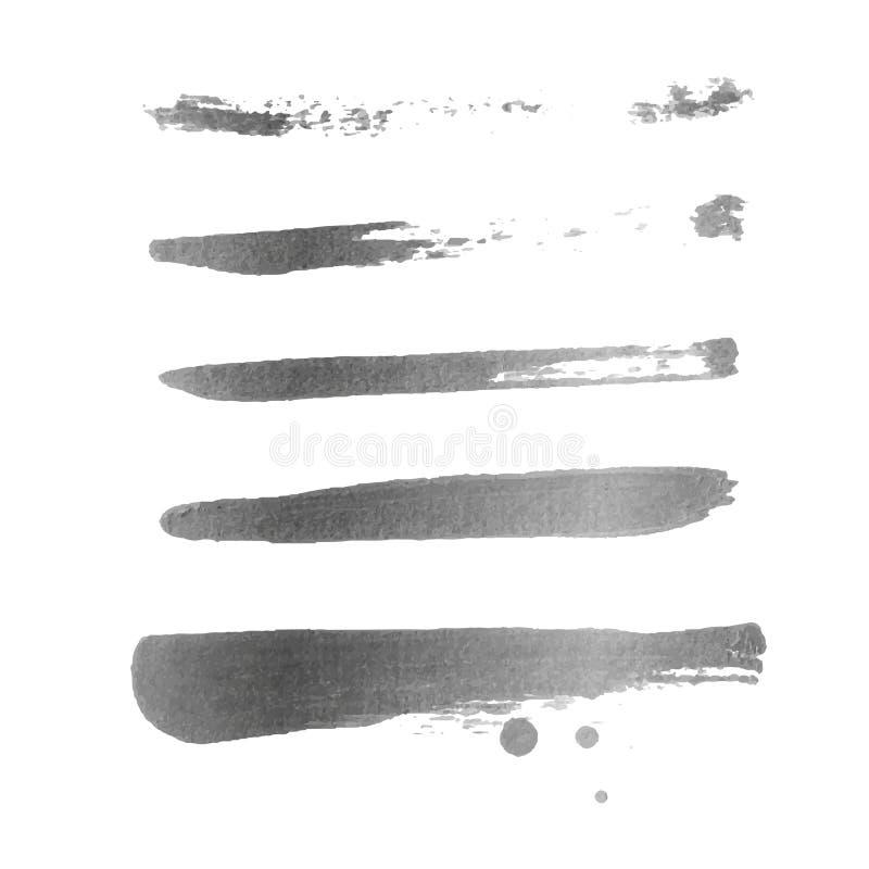 Goldener Bürstenanschlag Goldenes Spritzen des Vektors vektor abbildung