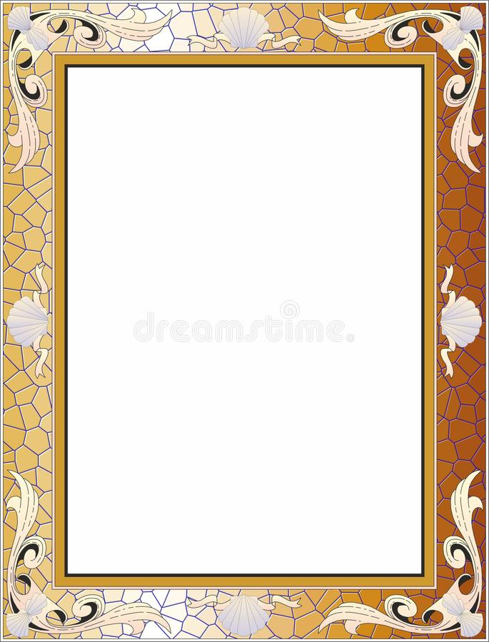 Goldener Barockrahmen, Hintergrund vektor abbildung