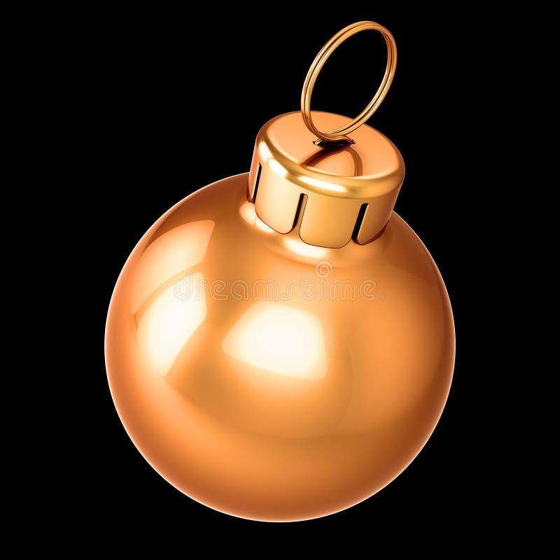 Goldener Bauernweihnachtsball New Years Eve Dekoration vektor abbildung