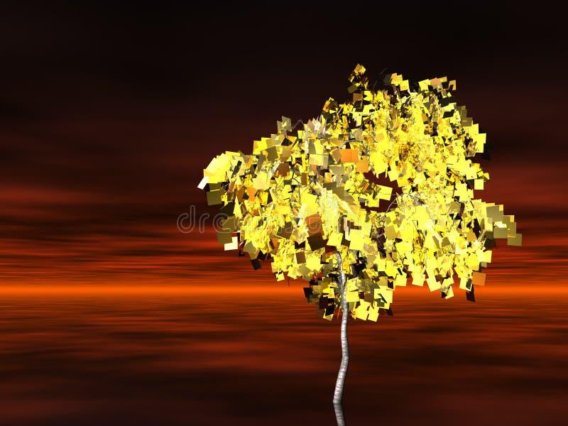 Goldener Baum lizenzfreie abbildung