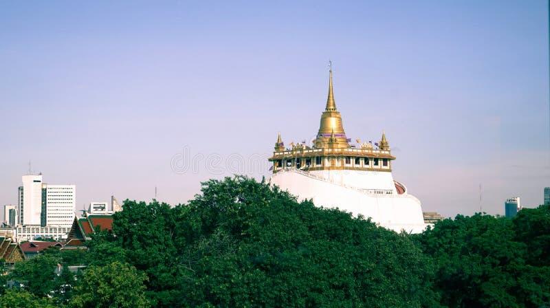 Goldener Berg, Bangkok, Thailand stockbilder