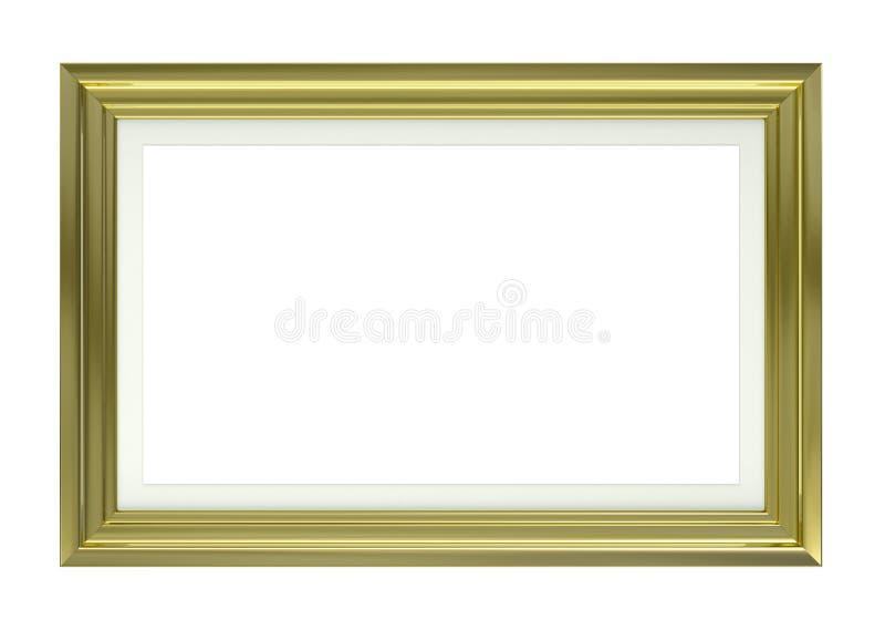 Goldener Bilderrahmen lizenzfreie abbildung