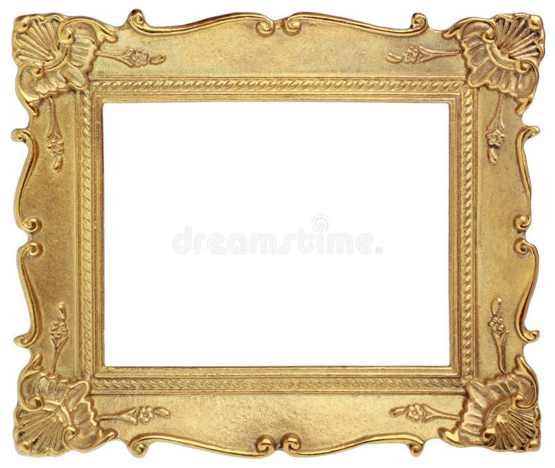 Goldener Bilderrahmen stockfoto. Bild von getrennt, hintergrund ...