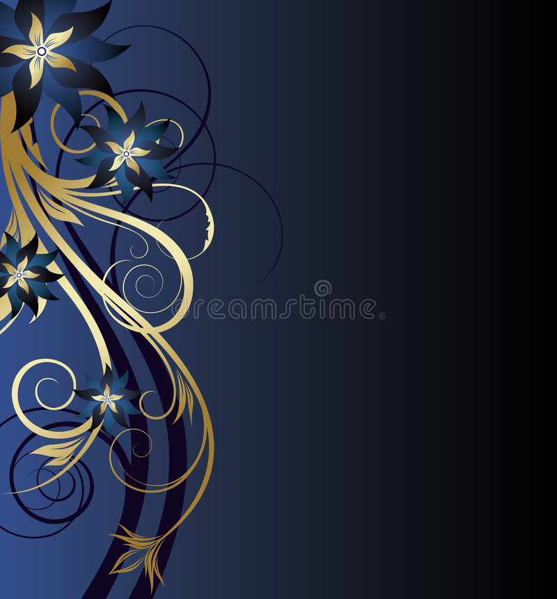 Goldener Blumenhintergrund stock abbildung