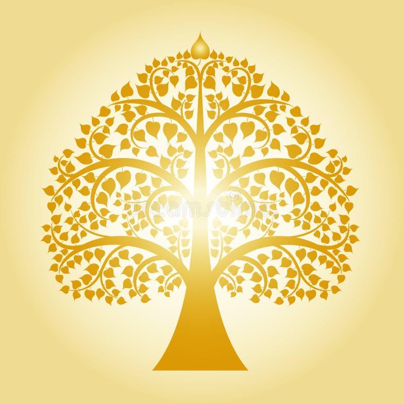 Goldener bodhi Baum lizenzfreie stockfotografie