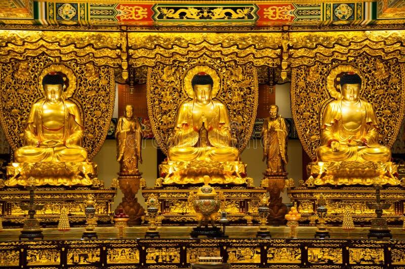 3 goldener Buddha lizenzfreies stockbild