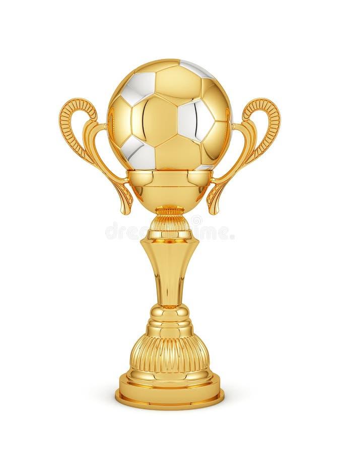 Goldener Cup des Fußballs vektor abbildung
