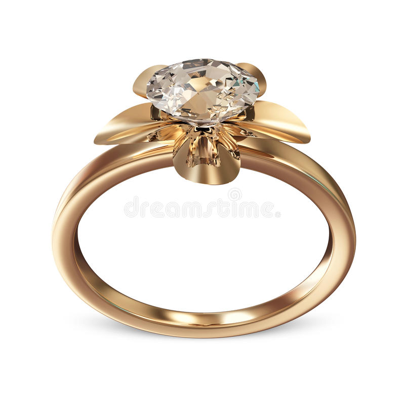 goldener ehering mit diamanten stock abbildung illustration von gold leuchtend 27917160. Black Bedroom Furniture Sets. Home Design Ideas