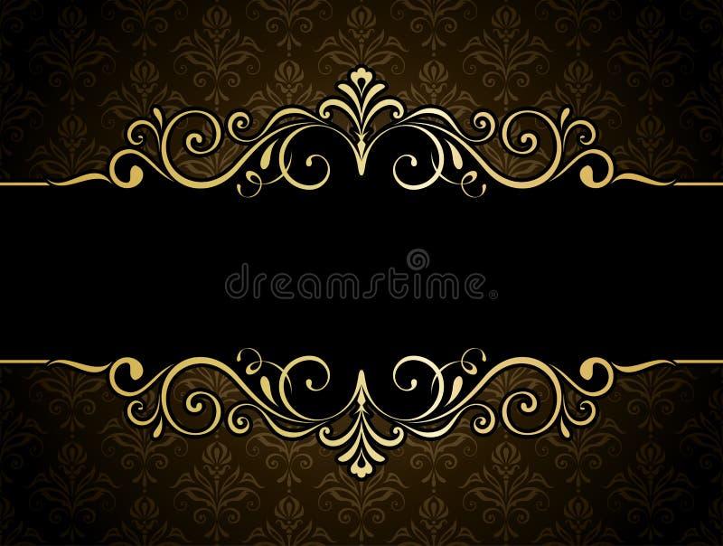 Goldener Fahnen-Rahmen lizenzfreie abbildung