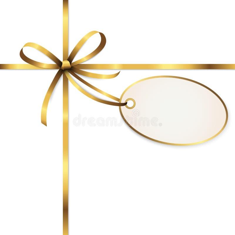 goldener farbiger Bandbogen mit Fallumbau vektor abbildung