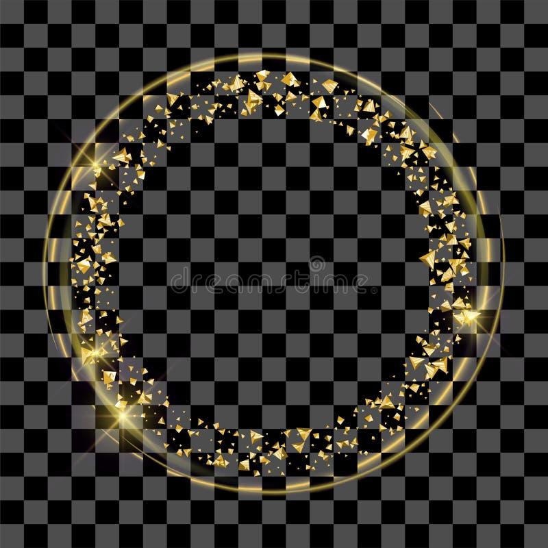 Goldener feenhafter Staubring vektor abbildung