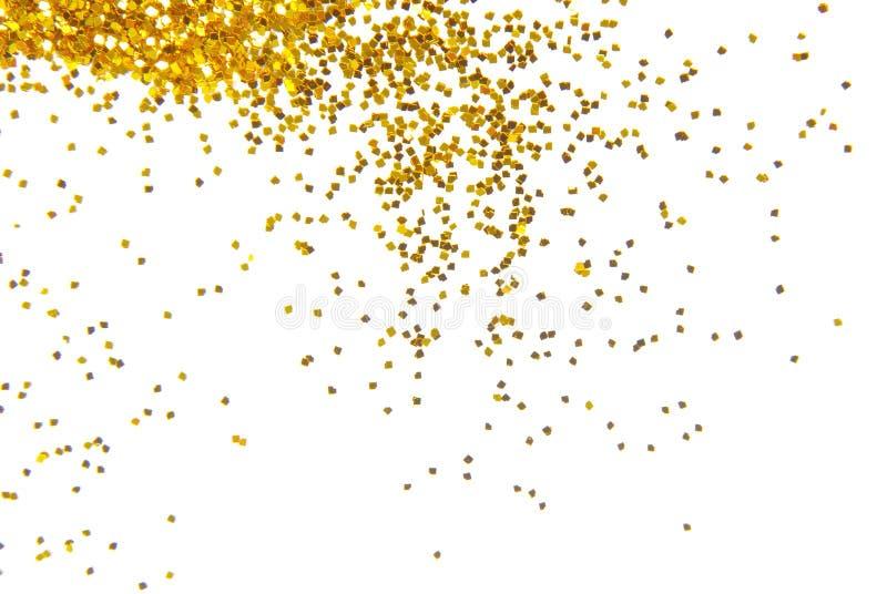 Goldener Funkelnhintergrund lizenzfreie stockfotografie