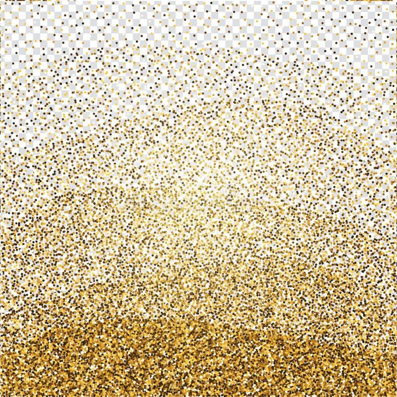 Goldener Funkelnzusammenfassungshintergrund Glänzender Hintergrund des Lamettas Luxur stock abbildung
