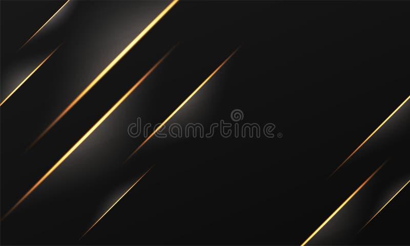 Goldener gestreifter abstrakter Hintergrund mit Lichteffekt lizenzfreie abbildung