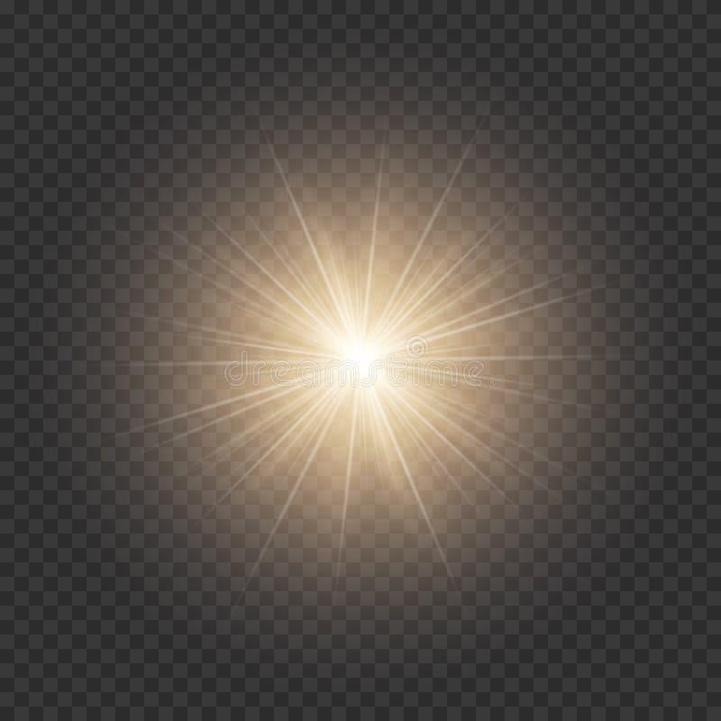 Goldener glänzender Stern lizenzfreie abbildung