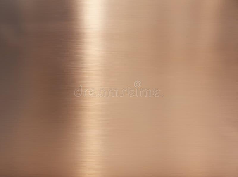 Goldener Haarstrichedelstahl Glänzende Goldfolie, Bronze oder kupferne Metallmusteroberflächenbeschaffenheit Nahaufnahme des Inne stockbild
