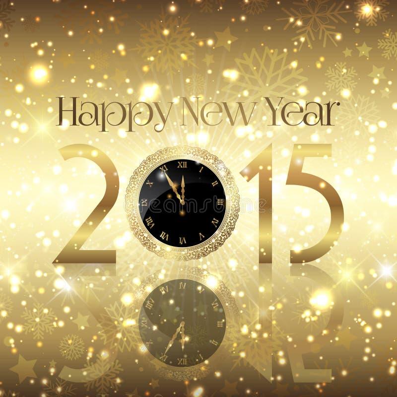 Goldener Hintergrund des glücklichen neuen Jahres stock abbildung
