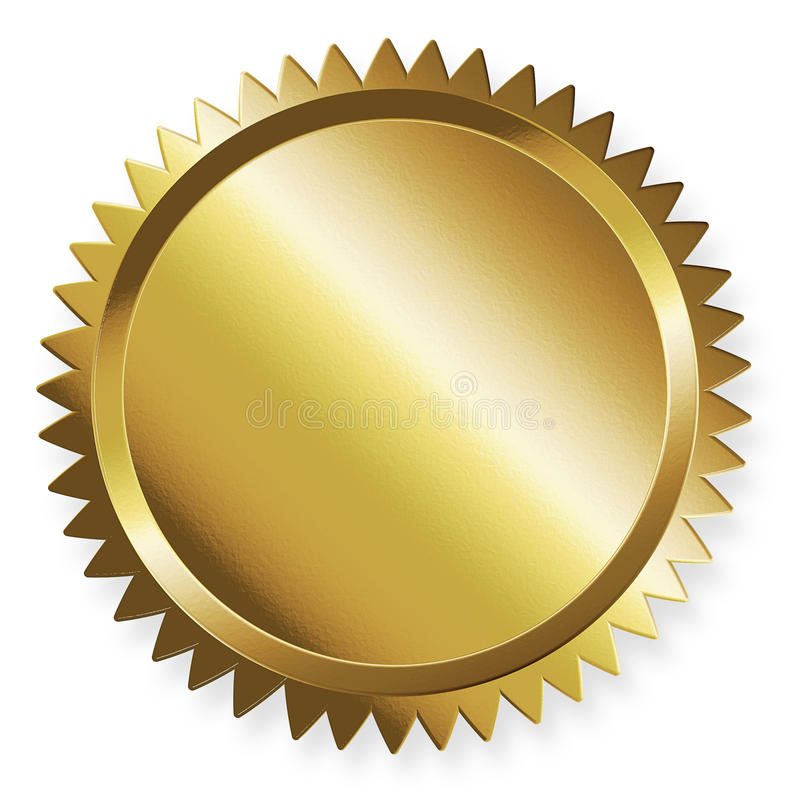 Goldener Kennsatz stock abbildung