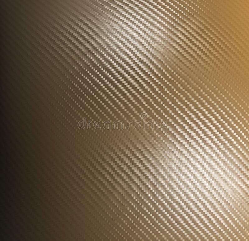 Goldener Kohlenstofffaserhintergrund stock abbildung