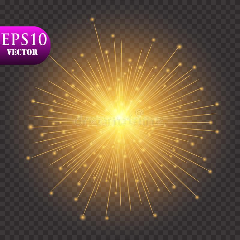 Goldener Leuchte-Hintergrund Weihnachtslicht-Konzept Auch im corel abgehobenen Betrag lizenzfreie abbildung