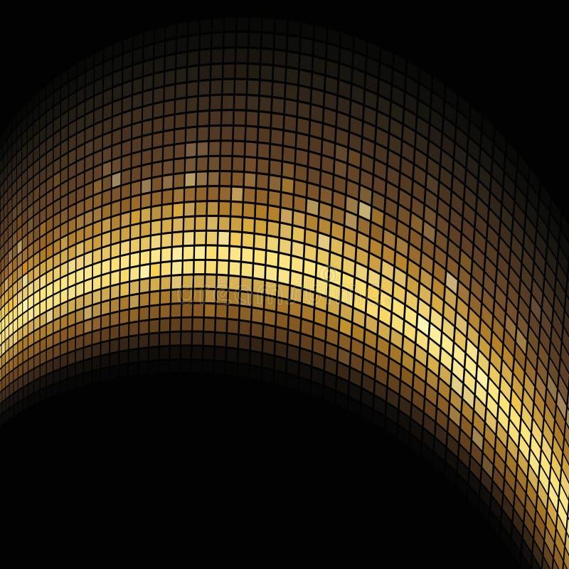 Goldener Lichtbogen gebildetes Mosaik stock abbildung