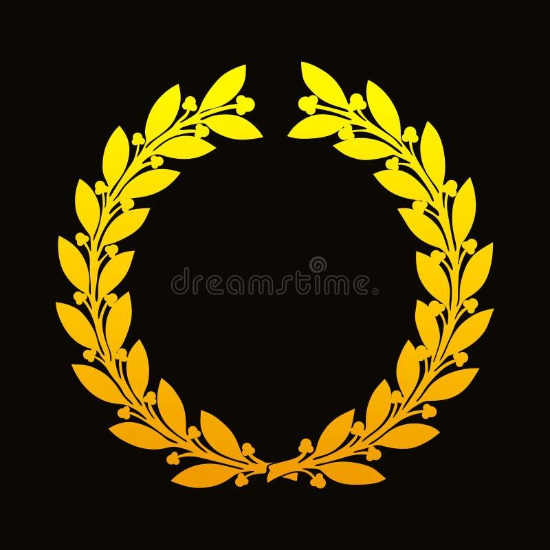 Goldener Lorbeer Wreath lizenzfreies stockfoto