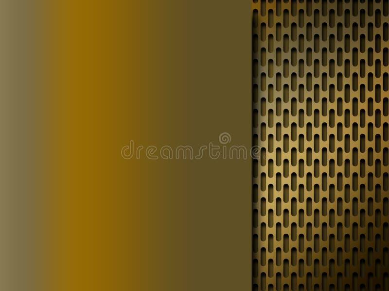 Goldener Metallrasterfeldhintergrund vektor abbildung