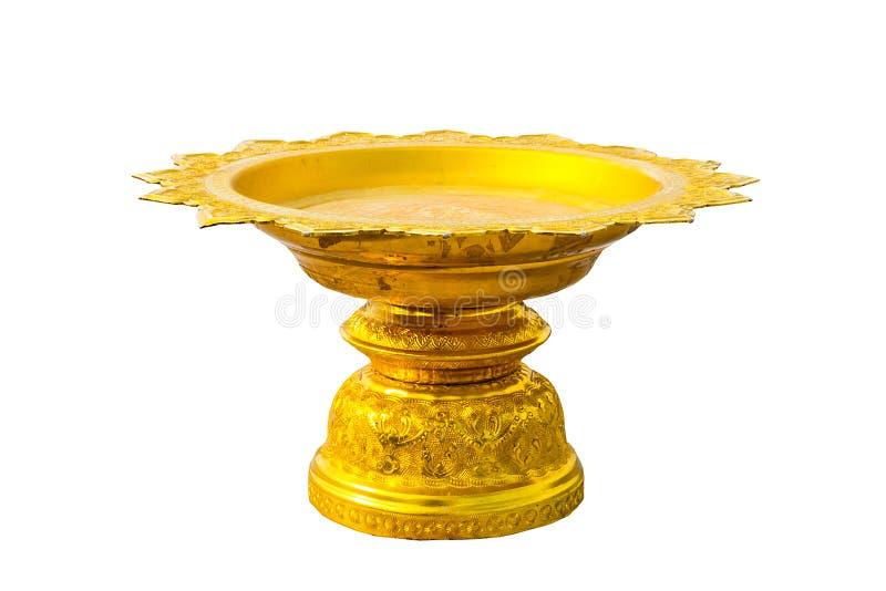 Goldener Phan in den buddhistischen Tempeln lizenzfreie stockbilder