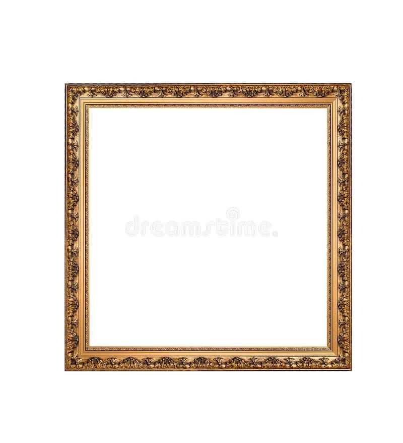 Goldener Quadratischer Rahmen Lokalisiert Auf Einem Weißen ...