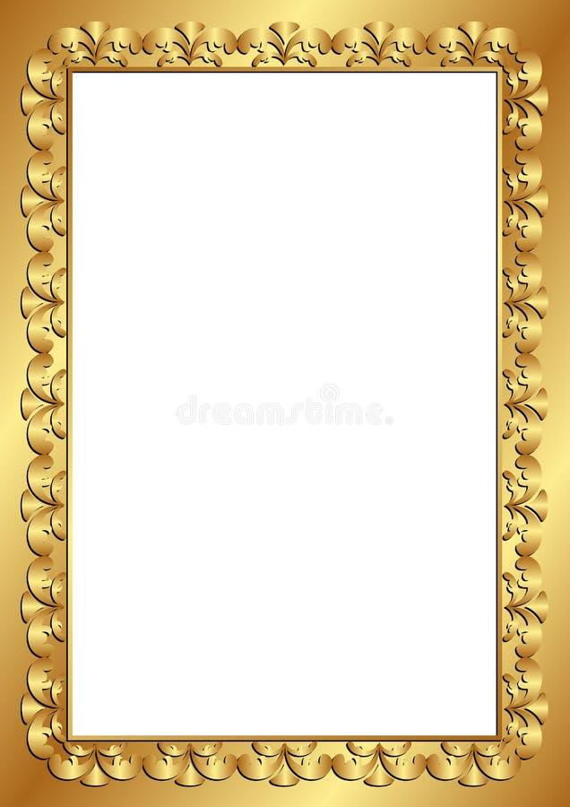 Goldener Rahmen vektor abbildung. Illustration von auslegung - 35241359