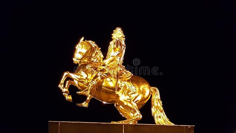 Goldener Reiter Dresden foto de stock royalty free