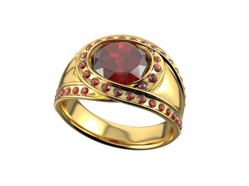 Goldener Ring mit Diamanten lizenzfreies stockfoto