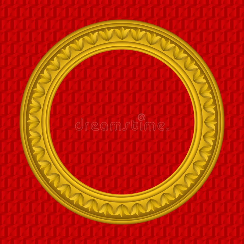 Goldener runder Bilderrahmen vektor abbildung