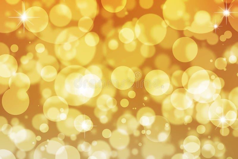 Goldener Schein beleuchtet Hintergrund lizenzfreie stockfotografie