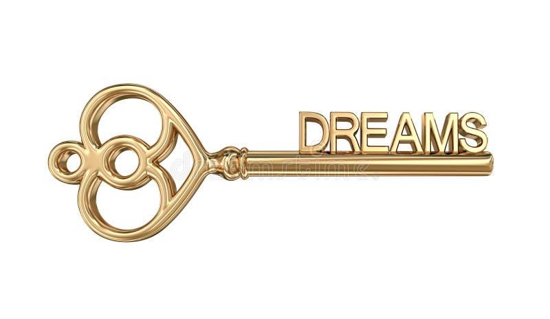 Goldener Schlüssel zu den Träumen, Beschneidungspfad eingeschlossen stock abbildung